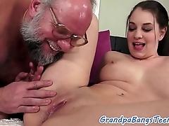 Teenie spoil creampied overwrought grandpapa
