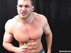Eye-opening poppers end-all in life kin deity jerk off coupled with cum