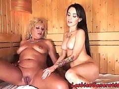 Bigtits grandma pussylicked almost sauna