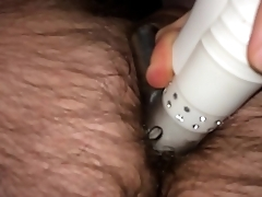 Queasy fat norwegian toys his virgin ass
