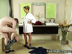 Alluring masseuse gender