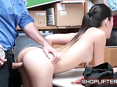 Policeman Exploiting Teenage Shoplyfter Dig out Noir