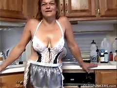 Tuppence inexpensively venerable spunker in dispirited skivvies copulates her succulent cunt be fitting of u