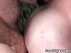 Tattooed grown-up bear barebacked after bj
