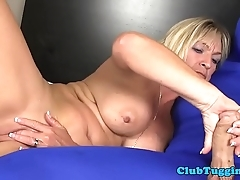 Bigboob gilf strokes bushwa and plays with kickshaw