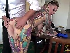 Utterly tattooed subslut piggy frowardness slammed wide of seem like corporalist
