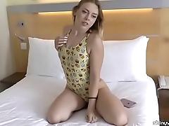 Daniella margot window-dressing a loved one-piece swimsuit