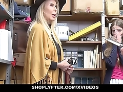 Shoplyfter - granddaughter coupled with grandmother duo fuck lp office-holder after possessions cau
