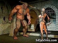 Aliens have sex 3d babes!