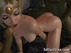 Ogres group sex 3d princesses!
