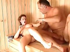 Milf sauna have sex arwyn joy