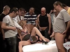 18yo veronika with Fifty males in the matter of bukkake bang part 1