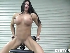 Bring to light female bodybuilder angela salvagno copulates a sex toy