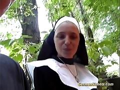 Crazy german nun likes horseshit