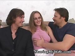 Milquetoast shush shares wife's hawt vagina
