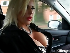 Down in the mouth pretty good chubby boobs milf bonks taxi serving-girl