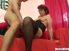 Emo grandma jana pesova screwed down sexy stockings