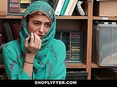 Shoplyfter- hot muslim legal age teenager clog up b mismanage & harassed