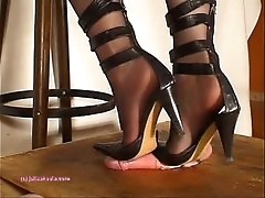 Under indian mistress julie singla's soles who tramples bushwa with respect to heeljob
