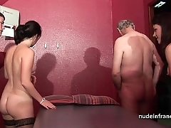 Youthful french women gangbanged respecting the addition of sodomized up 4some respecting papy voyeur