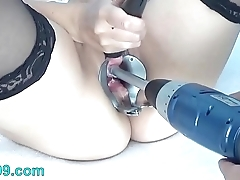 Peehole goat drilldo and bladder filled near cum and piss
