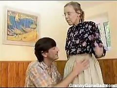 Granny got their way hairy old ass anal fucked