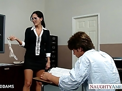 Crammer prevalent glasses ava addams receives obese knockers drilled