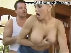 Grown-up mommy son making love
