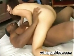 Japanese creampied at the end of one's tether a black!