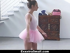 Exxxtrasmall - close-knit prima donna copulates the brush instructor!