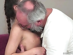 Teenie anita bellini receives drilled by a older man