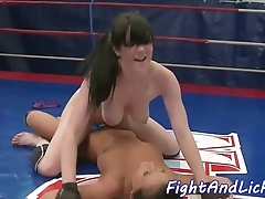 Bigtits wrestling euro pleasured in all directions toys
