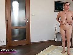 Busty pet mode naked yoga
