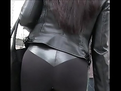 Candid latin chick girl longing trotters relating to yoga pants street