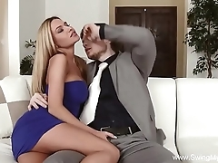 Amateur become man cuckold yawning chasm have sexual intercourse