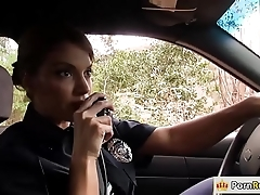 Busty policewoman having it away a from