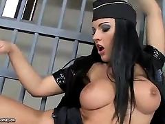 Horny police lesbians slit